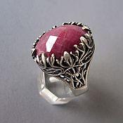 """кольцо """"эльфийское"""" с рубином"""