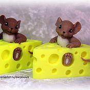 """Косметика ручной работы. Ярмарка Мастеров - ручная работа Сувенирное мыло """"Мышь в сыре"""". Handmade."""