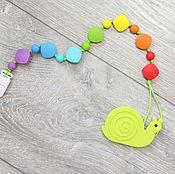 Работы для детей, ручной работы. Ярмарка Мастеров - ручная работа Разноцветный держатель (клипса) отдельно или с грызунком на выбор. Handmade.