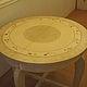 Декор поверхностей ручной работы. Ярмарка Мастеров - ручная работа. Купить Роспись  старого стола. Handmade. Бежевый, старая мебель