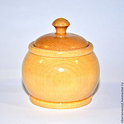 Для дома и интерьера handmade. Livemaster - original item Potbelly small Wooden Bowl For spices Siberian Cedar #K21. Handmade.