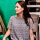 """Платья ручной работы. Ярмарка Мастеров - ручная работа. Купить """"Облачно"""". Платье прямого силуэта.. Handmade. Серый, прямое платье"""