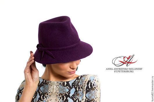 Свадебные и вечерние аксессуары ручной работы. Фетровая шляпа `Trend`. Анна Андриенко. Ярмарка Мастеров.
