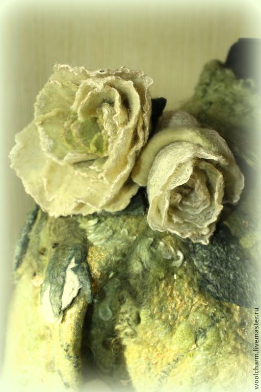 Пиджаки, жакеты ручной работы. Ярмарка Мастеров - ручная работа. Купить Жакет валяный В саду зеленых роз. Handmade.
