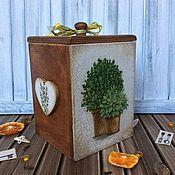 """Для дома и интерьера ручной работы. Ярмарка Мастеров - ручная работа Короб для сыпучих продуктов """"Травы"""". Handmade."""