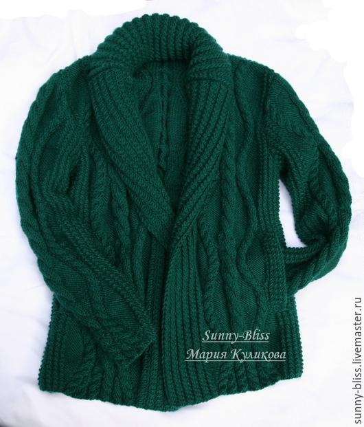 Кофты и свитера ручной работы. Ярмарка Мастеров - ручная работа. Купить Кардиган с карманами Изумруд. Handmade. Изумрудный цвет