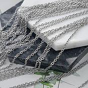 Материалы для творчества handmade. Livemaster - original item 1 m steel Chain 2.5x2x0.5. 4525 mm (). Handmade.