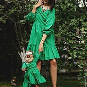 """Одежда ручной работы. Ярмарка Мастеров - ручная работа Одинаковые платья для мамы и дочки """"Маргарита"""", комплект. Handmade."""