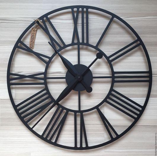 """Часы для дома ручной работы. Ярмарка Мастеров - ручная работа. Купить Часы настенные 50см с увеличенными стрелками """"Rooma"""". Handmade."""