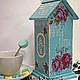 """Кухня ручной работы. Заказать Чайный домик """"Мятный"""". Творческая Мастерская ArtAnnet. Ярмарка Мастеров. Чай, мятный цвет"""