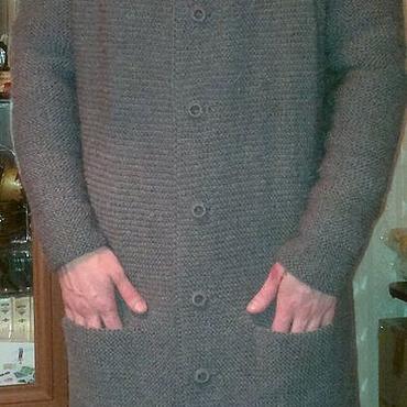 Одежда ручной работы. Ярмарка Мастеров - ручная работа Вязаное мужское пальто. Handmade.