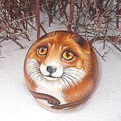 Сувениры и подарки handmade. Livemaster - original item The Fox Fox Ball tumbler musical Painting on wood. Handmade.