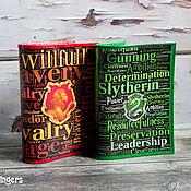 Канцелярские товары handmade. Livemaster - original item Leather passport cover Gryffindor Slytherin Harry Potter. Handmade.