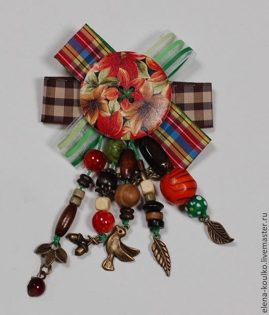 """Броши ручной работы. Ярмарка Мастеров - ручная работа. Купить Коллекция брошей """"Осенний блюз"""". Handmade. Осень, декупаж винтаж"""