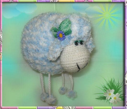 Игрушки животные, ручной работы. Ярмарка Мастеров - ручная работа. Купить Овечка-подвеска. Handmade. Голубой, овечка