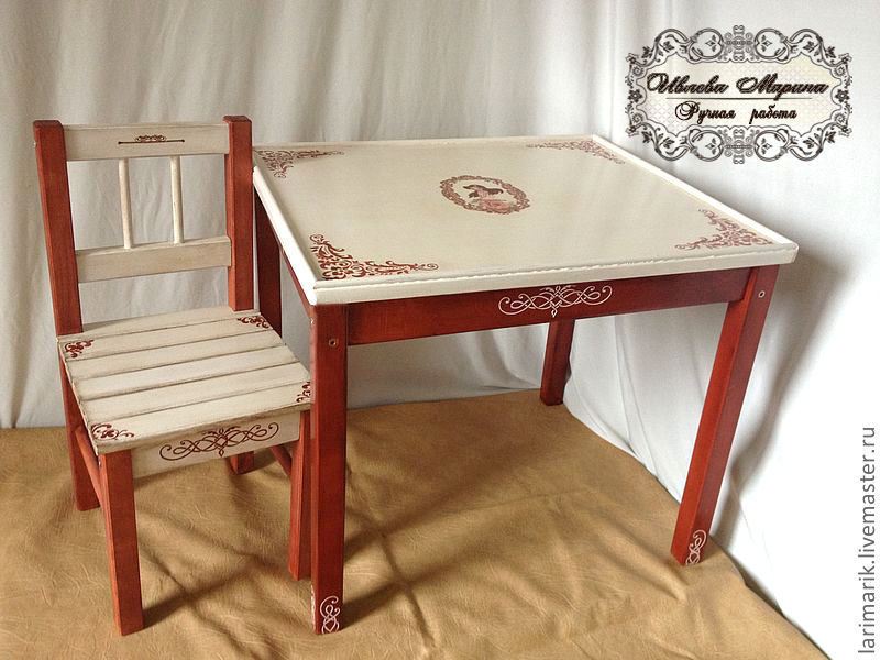 Children's furniture: table and chair, Furniture for a nursery, Moscow,  Фото №1