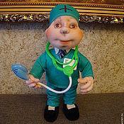 Куклы и игрушки ручной работы. Ярмарка Мастеров - ручная работа Кукла из капрона врач кардиолог  (медработник). Handmade.