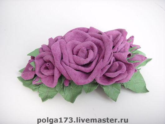 """Заколки ручной работы. Ярмарка Мастеров - ручная работа. Купить Заколка """"Чудные розы"""". Handmade. Заколка, заколка-автомат"""