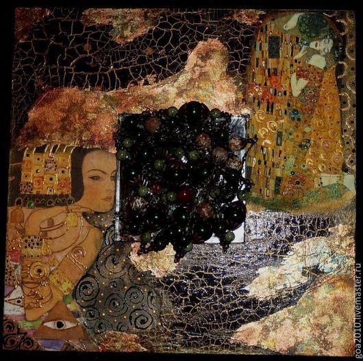 """Зеркала ручной работы. Ярмарка Мастеров - ручная работа. Купить """"Фантазия на тему Климта"""" интерьерное зеркало. Handmade. Зеркало, Климт"""