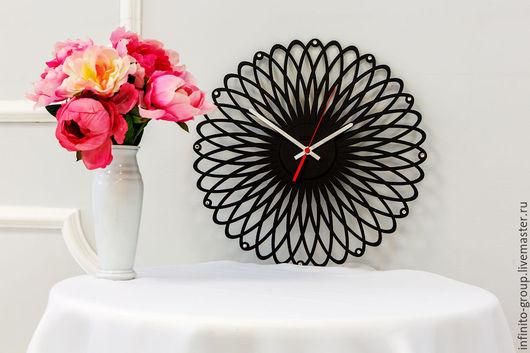"""Часы для дома ручной работы. Ярмарка Мастеров - ручная работа. Купить Настенные часы """"Спиралиум"""". Handmade. Комбинированный, часы из дерева"""