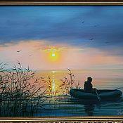 Картины и панно ручной работы. Ярмарка Мастеров - ручная работа На рыбалке.авторская. Handmade.