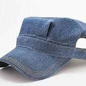 """Одежда ручной работы. Ярмарка Мастеров - ручная работа Летняя кепка """"Американка 122"""" джинс. Handmade."""