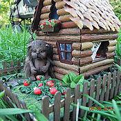 Куклы и игрушки ручной работы. Ярмарка Мастеров - ручная работа Домик ежа Леонтия. Handmade.