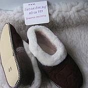 Обувь ручной работы handmade. Livemaster - original item Men`s Slippers.Sheepskin.The soft sole.Brown. Handmade.
