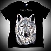 """Одежда ручной работы. Ярмарка Мастеров - ручная работа Мужская футболка """"Wolf"""". Handmade."""