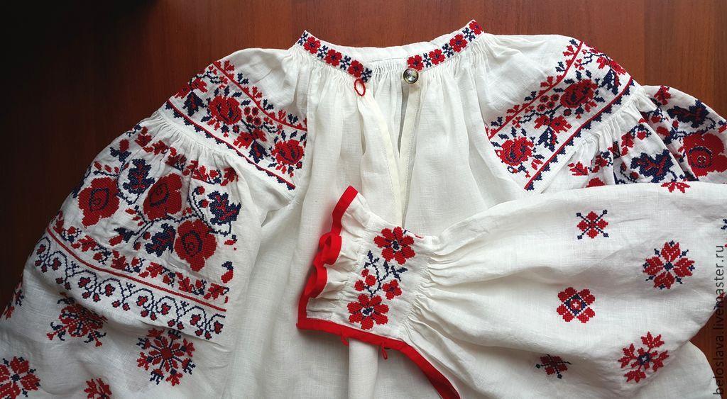 Русские народные рубахи женские