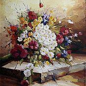 Картины и панно ручной работы. Ярмарка Мастеров - ручная работа Летний букет полевых цветов. Handmade.