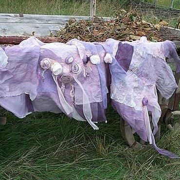 """Аксессуары ручной работы. Ярмарка Мастеров - ручная работа Палантин """"Purple roses"""". Handmade."""