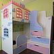 Детская ручной работы. Двухъярусная кровать Замок 70/160. Лаборатория детской мебели Rusmebel (rusmebel). Интернет-магазин Ярмарка Мастеров.