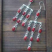 Earrings handmade. Livemaster - original item Earrings with corals. Handmade.