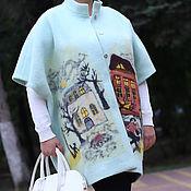 Одежда ручной работы. Ярмарка Мастеров - ручная работа Легкое пальто Мятный Город из лодена. Handmade.