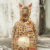 Подарки к праздникам ручной работы. Ярмарка Мастеров - ручная работа Ватная игрушка на ёлку Леопард. Handmade.