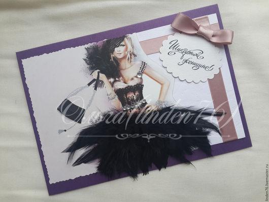 """Открытки для женщин, ручной работы. Ярмарка Мастеров - ручная работа. Купить открытка """"Шикарной женщине"""". Handmade. Комбинированный, открытка для девушки"""