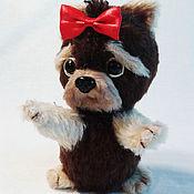 Для дома и интерьера handmade. Livemaster - original item Knitted Yorkshire Terrier. Handmade.