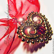 Украшения ручной работы. Ярмарка Мастеров - ручная работа Кокетка (кулон - валентинка). Handmade.