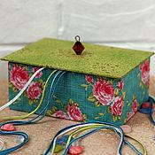 Для дома и интерьера ручной работы. Ярмарка Мастеров - ручная работа Шкатулочка со съемной крышкой. Handmade.