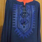 """Одежда handmade. Livemaster - original item Женская вышиванка """"Синяя ночь1"""" ЖР4-134. Handmade."""