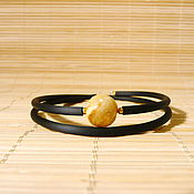 Украшения handmade. Livemaster - original item Amber bracelet on a string Br-222. Handmade.