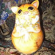 """Куклы и игрушки ручной работы. Ярмарка Мастеров - ручная работа неваляшка деревянная со звоном """" Рыжик"""". Handmade."""