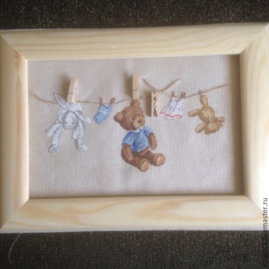 Детская ручной работы. Ярмарка Мастеров - ручная работа. Купить Вышитое панно Большая стирка для детской или метрики вышивка крестом. Handmade.
