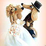 Куклы и игрушки ручной работы. Ярмарка Мастеров - ручная работа Свадебные таксы. Handmade.