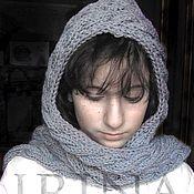 Аксессуары handmade. Livemaster - original item Grey hood. Handmade.