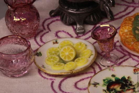 Еда ручной работы. Ярмарка Мастеров - ручная работа. Купить Лимон из полимерной глины. Handmade. Лимонный, кукольный домик