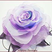 Для дома и интерьера ручной работы. Ярмарка Мастеров - ручная работа цветок - роза из ткани. Handmade.