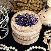 """Для дома и интерьера ручной работы. Ярмарка Мастеров - ручная работа """"Пироженка"""", бонбоньерка, декупаж. Handmade."""