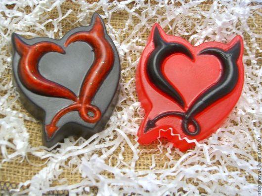 Мыло ручной работы. Ярмарка Мастеров - ручная работа. Купить Мыло ручной работы-Красное и черное. Handmade. Мыло